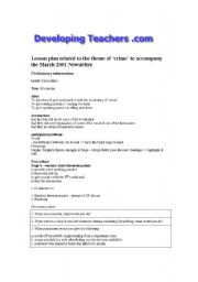 English Worksheets: Writing plan (robbery)