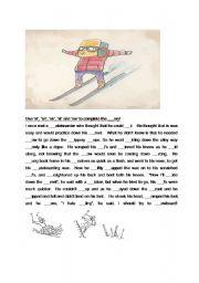 English Worksheets: Skiing