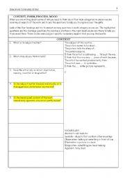 English Worksheets: looking at sara fanelli