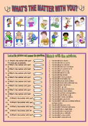 English Worksheet: what s the matter with you?