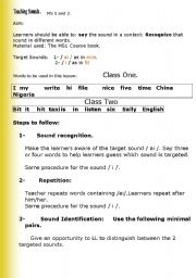 English Worksheets: sounds/i/ and /ai/