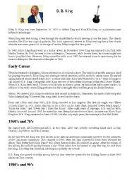 English worksheets: 12 Bar Blues Worksheet