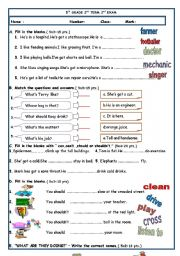 5th GRADE 2nd TERM 2nd EXAM