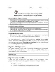 English Worksheets: Presidential Elections Cross-Curricular Unit (Math & Language Arts)