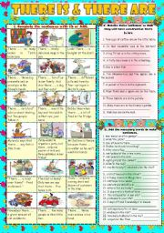 English Worksheets: THERE IS & THERE ARE***Part 1