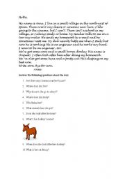 English Worksheets: Read this letter and answer some questions