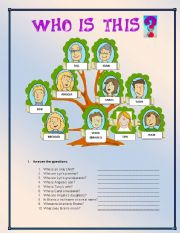 English Worksheet: Who�s this?