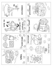 advertise here vocabulary worksheets the transports transport minibook