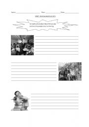 English Worksheets: Analysing Pictures