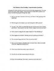 English Worksheets: Monkey�s Paw
