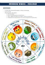 Spinning wheel: FEELINGS