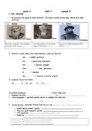 English Worksheets:  A.G.Bell : Reading, writing (from text book)