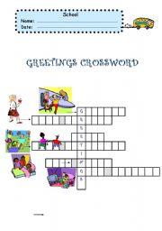 English Worksheets: greetings activity