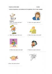 English worksheet: what´s the matter ?