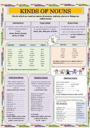 English teaching worksheets: Nouns