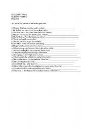 English Worksheets: New Cutting Edge Elementary Unit 11