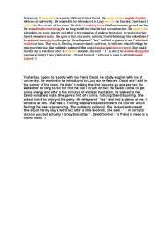 English Worksheets: find mistake