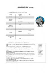 English Worksheets: Crime and Law worksheet