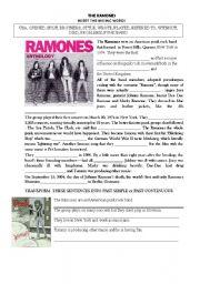 English Worksheets: THE RAMONES