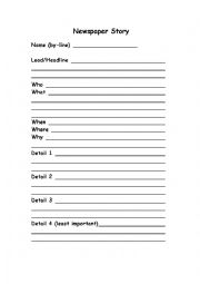 how to write an outline for a newspaper article