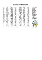english worksheets akeelah the bee movie wordsearch. Black Bedroom Furniture Sets. Home Design Ideas