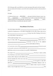 english worksheets the collision of the titanic. Black Bedroom Furniture Sets. Home Design Ideas