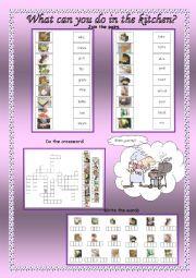 English Worksheet: Cooking