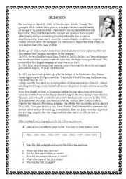 English Worksheet: Reading-Celine Dion