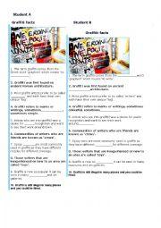 English Worksheet: graffiti information gap