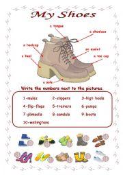 English Worksheet: Shoes