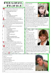 English Worksheet: Personal Profile.