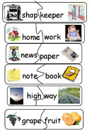 photo regarding Printable Compound Word Games called Substance phrases worksheets