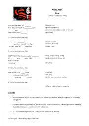 English Worksheet: Nirvana - Sliver