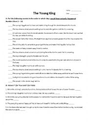 The Young King by Oscar Wilde (PENGUIN ACTIVE READER - LEVEL 3) WORKSHEET