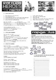 English Worksheet: The Fighter by Gym Class Heroes