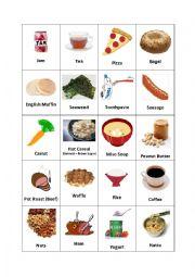 English Worksheet: Breakfast Foods (2/2)