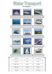 English Worksheet: Water Transport