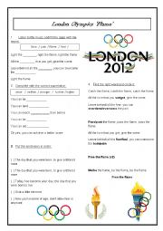 English Worksheet: Olympic Song - Flame London 2012