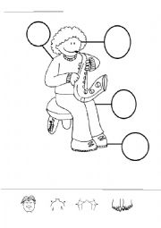 English Worksheet: head shoulders knees and toes