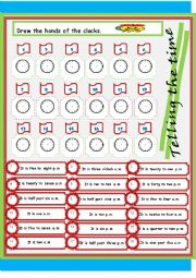 English Worksheet: telling time