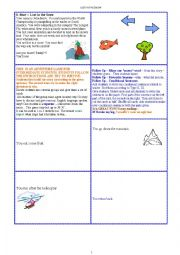 English Worksheets: Interactive Story - LOST in the SNOW (cardgame) (9 pages_) + 11_exercises