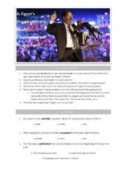 English Worksheet: Is Egypt�s President Morsy Really Challenging the Ruling Junta?