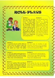 English Worksheet: Role Plays Part III