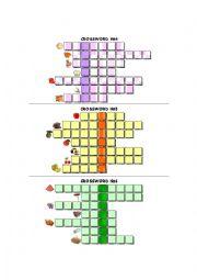 Food Crosswords 4,5,6 - with KEY