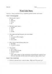 West Side Story Comprehension Check