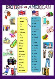 English Worksheet: AmE vs BrE
