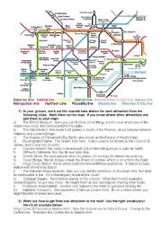 English Worksheet: Underground game