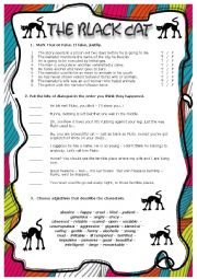 English Worksheet: The Black Cat