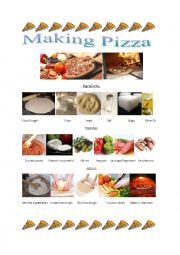 Pizza Making Vocabulary