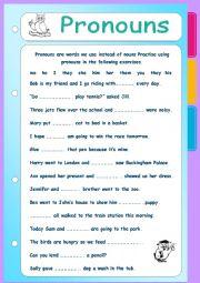 English Worksheet: Pronouns
